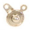 Button Clasp 7.5mm Rhodium